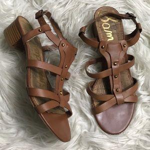 Sam Edelman Angela 8 Brown Leather Sandals
